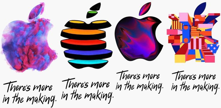 Grafiki zdobiące zaproszenia na konferencję Apple