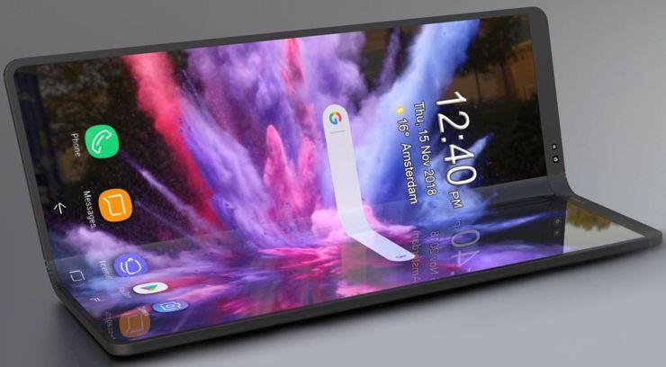 Jak wygląda składany Samsung? Może tak?