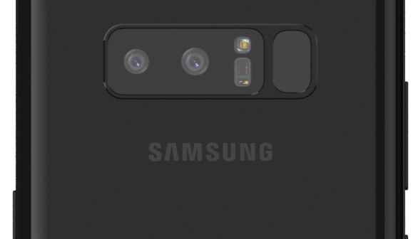 Renderbild des Samsung Galaxy Note 8