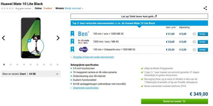 Huawei Mate 10 Lite w sklepe Belsimpel