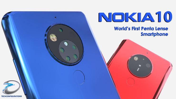 Nokia 10 - z osłoną aparatu i bez niej