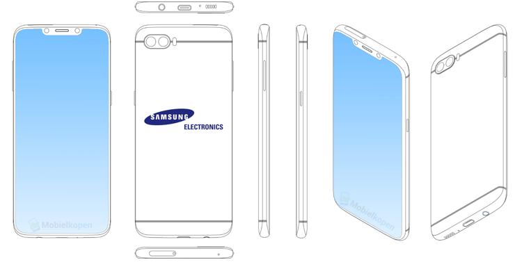 Koncepcja Samsunga z wcięciem