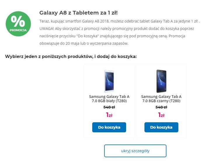 Oferta Komputronika: Galaxy A8 2018 i tablet za złotówkę