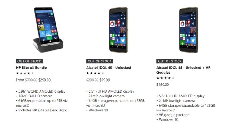 Koniec ze smartfonami z Windows Phone w oficjalnym sklepie Microsoftu