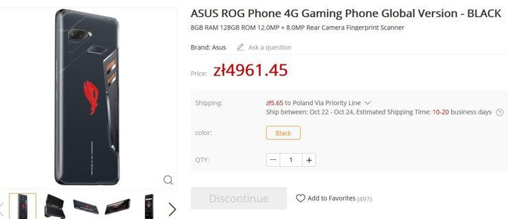Asus ROG Phone już w sklepie