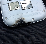 Burnt phone