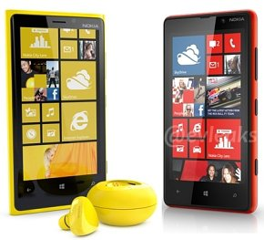 Lumia 920 with a charger