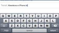 Klawiatura iPhone 4S