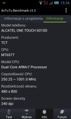 Alcatel One Touch Star 6010D - testy