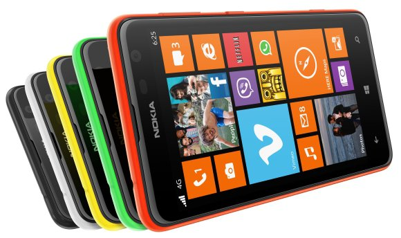 Nokia Lumia 625 in colours