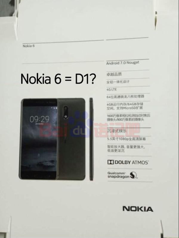 Opakowanie Nokia 6