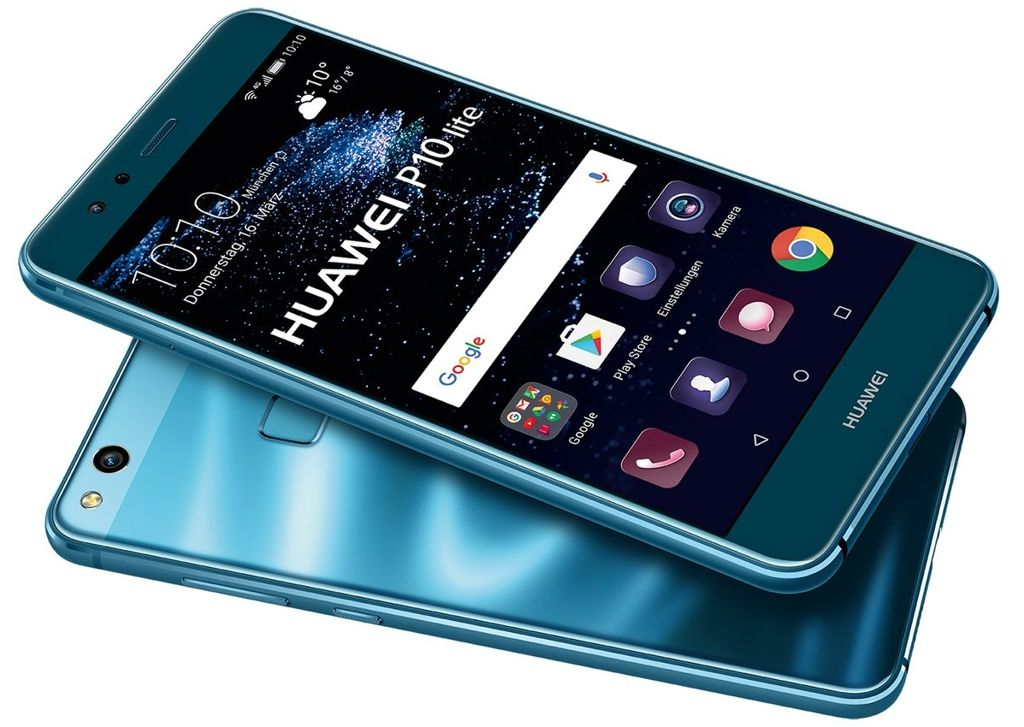 huawei p10 lite in opal blue for 349 euro. Black Bedroom Furniture Sets. Home Design Ideas