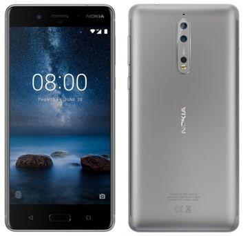 Nokia 8 in einem blauen und silbernen Gehäuse