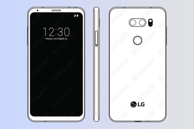 Steve H. - @OnLeaks on Twitter, published a sketch of LG V30