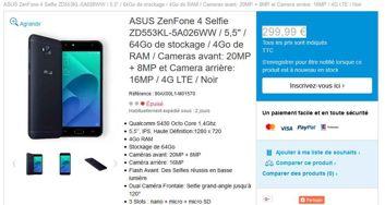 Asus ZenFone 4 Selfie und Selfie Pro im Laden von Asus