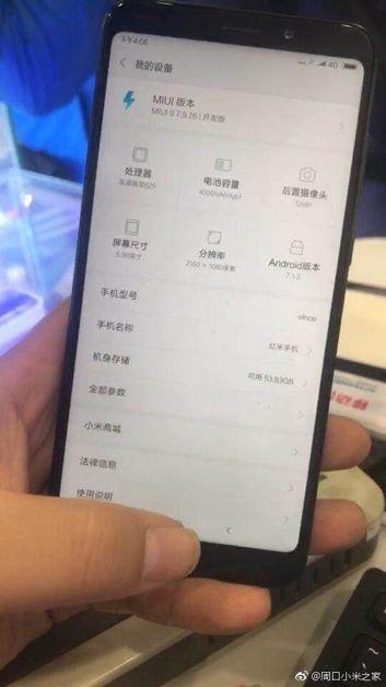 Xiaomi Redmi Note 5 i jego przedni panel