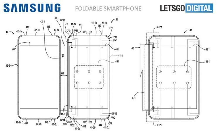 Szkice składanego Samsunga
