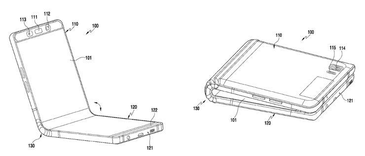 Szkice z patentu Samsunga