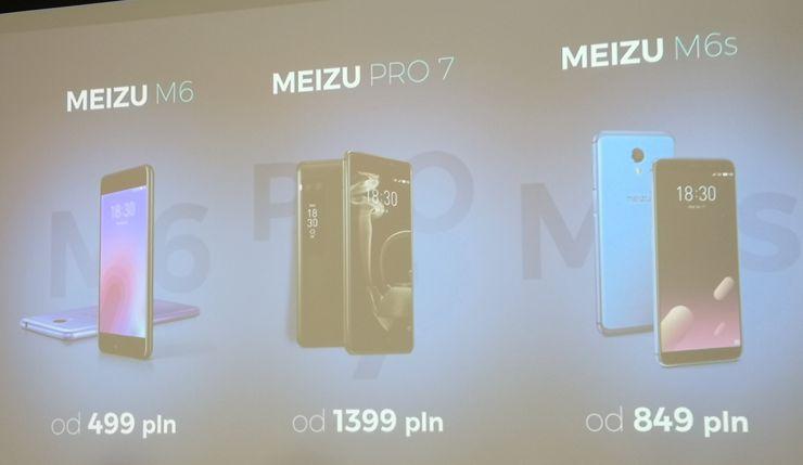 Meizu M6, Meizu M6s i Meizu Pro 7 - ceny