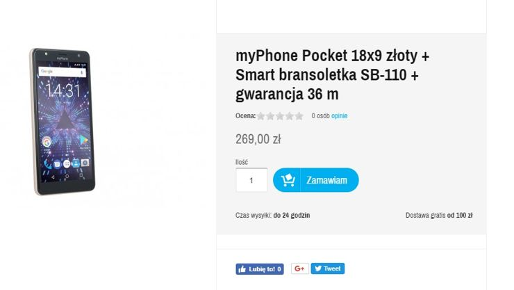 MyPhone Pocket 18x9