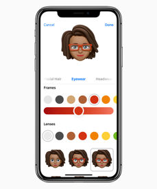 New, personalised animoji emoticons, called Memoji