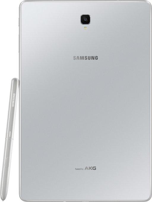 Tablet w białym (lub srebrnym) kolorze