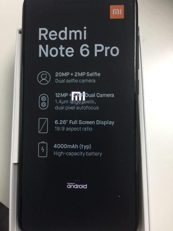 Xiaomi Redmi Note 6 Pro w pudełku