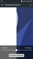 Personalizacja interfejsu | Dopasowanie temperatury barw | Gesty
