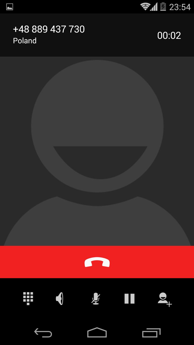 Как сделать чтобы при звонке говорили номер не существует
