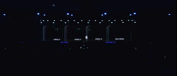 Kształty ekranów Infinity-U, Infinity-V i Infinity-O oraz New Infinity