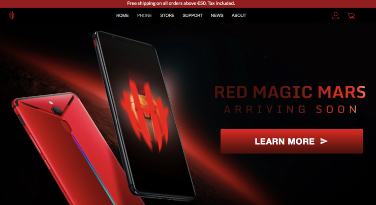 Witryna Red Magic Mars