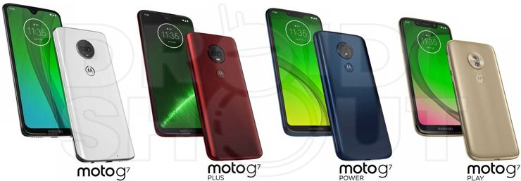 Cała rodzina modeli Moto G7