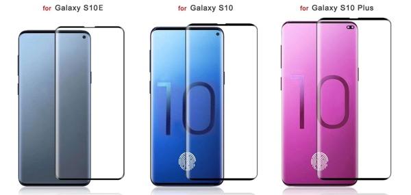Szkice szkieł i ekranów Galaxy S10