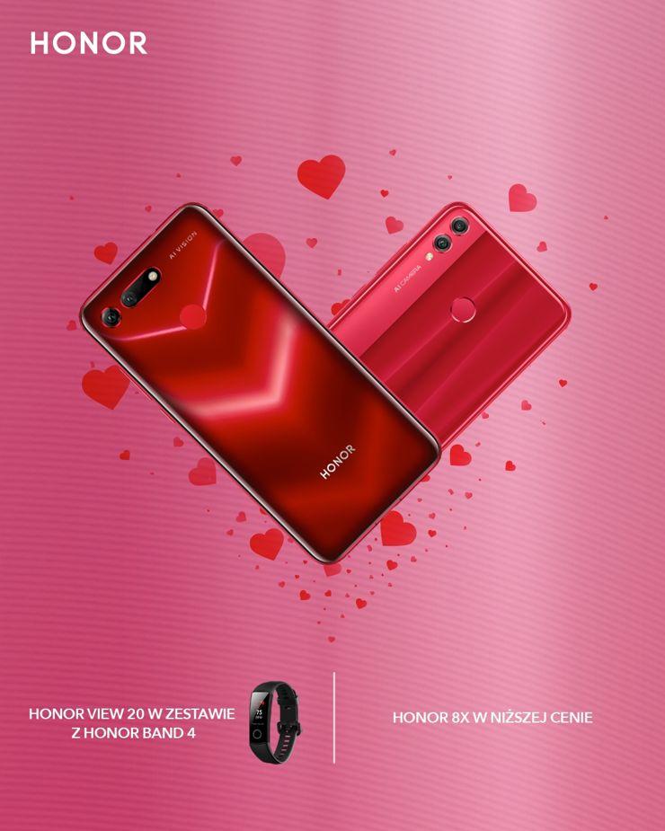 Walentynkowa promocja na modele Honor 8X i Honor View20