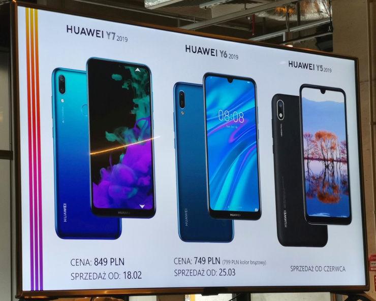Huawei seria Y na rok 2019