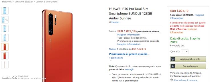 Huawei P30 Pro w Amazonie za jedyne 1024 euro