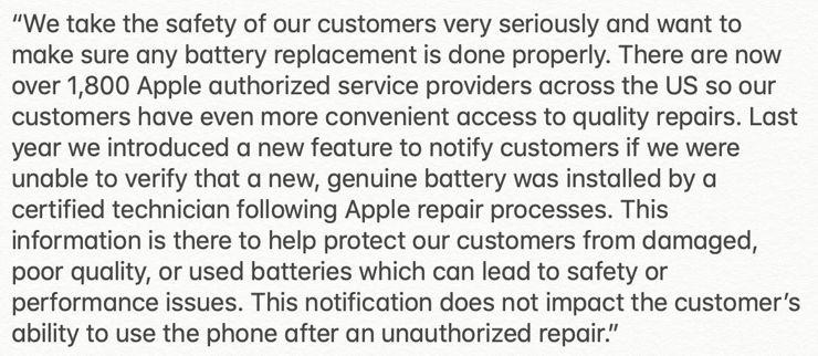 Oświadczenie Apple dotyczące blokowania funkcji Kondycja baterii