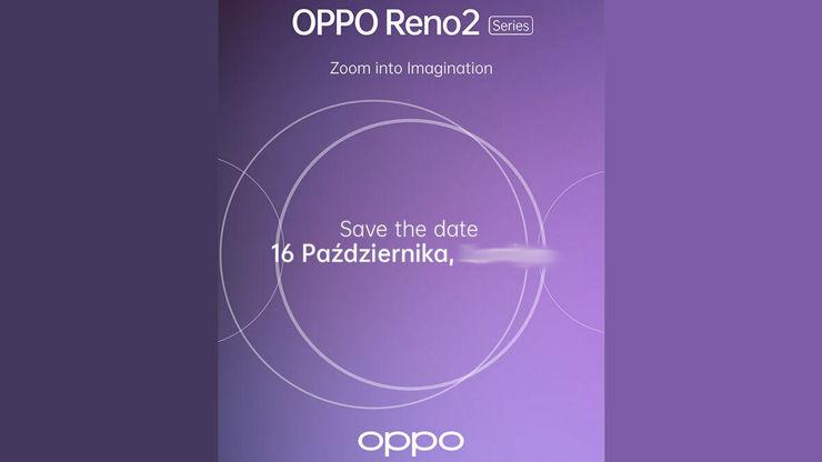 Informacja o premierze Oppo Reno 2
