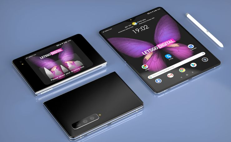Koncepcja Galaxy Fold 2 z S Pen