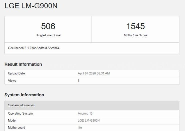 Następca serii LG G w benchmarku