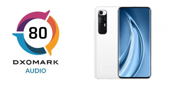 Xiaomi Mi 10S zajmuje 1. miejsce w kategorii audio w DxOMark