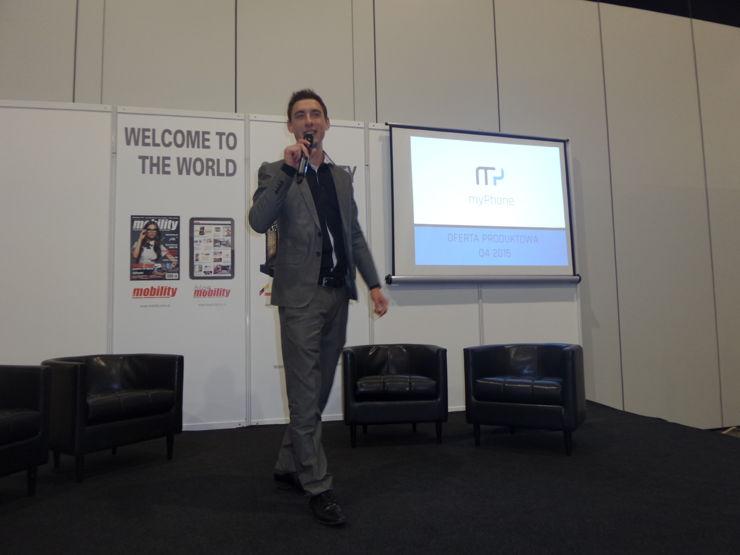 Konferencja myPhone. Miłosz Jarosiewicz w akcji