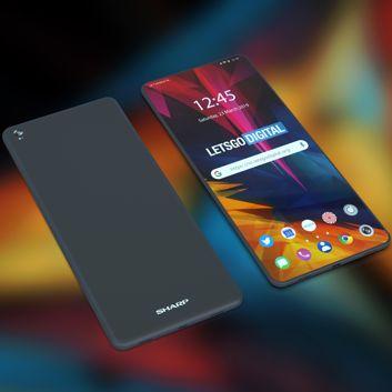 Koncepcja i render smartfonu Sharpa