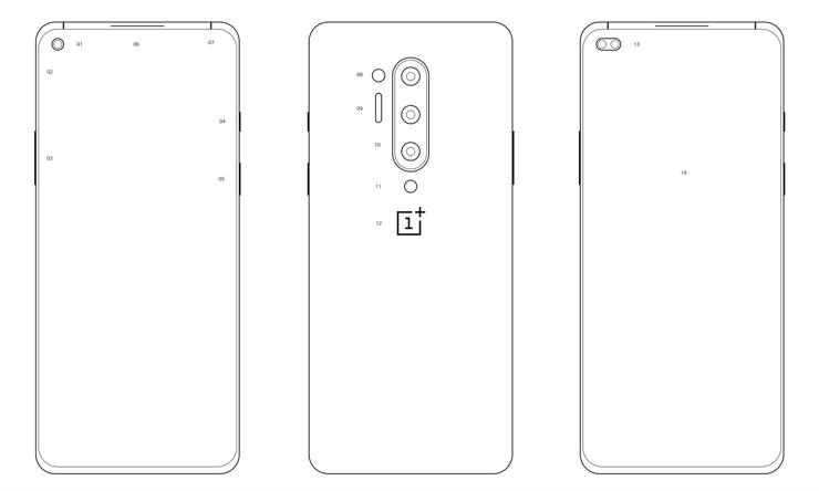 Schemat obudów OnePlus 8 i One Plus 8 Pro (kliknij obrazek, by powiększyć)
