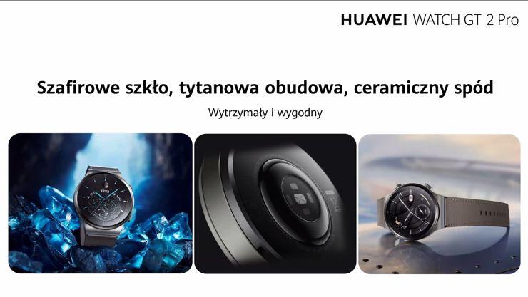 Huawei Watch GT 2 Pro: szkło, tytan, ceramika