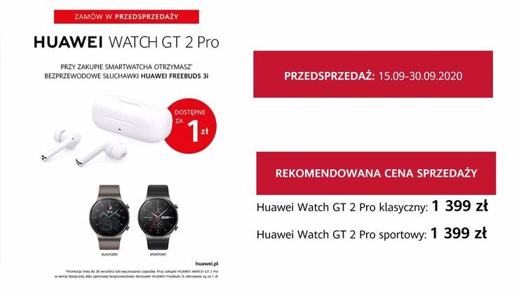Huawei Watch GT 2 Pro: polskie ceny i promocja