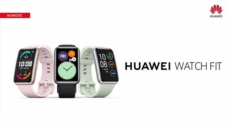 Huawei Watch Fit - trzy kolory