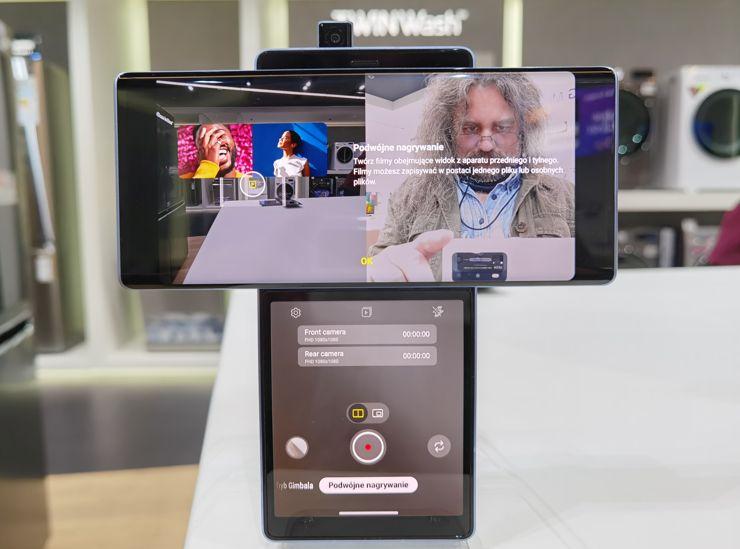 LG Wing - film z obu aparatów jednocześnie