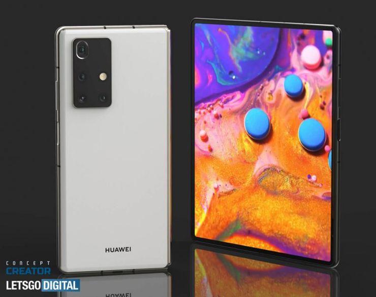 Prawdopodobny wygląd Huawei Mate X2