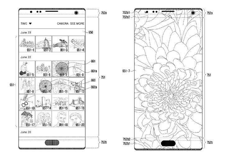 Szkic patentowy Samsunga
